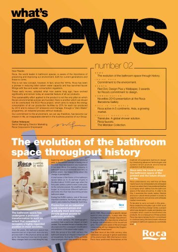 The evolution of the bathroom space throughout history - Roca