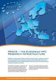 PRACE – THE EUROPEAN HPC RESEARCH INFRASTRUCTURE