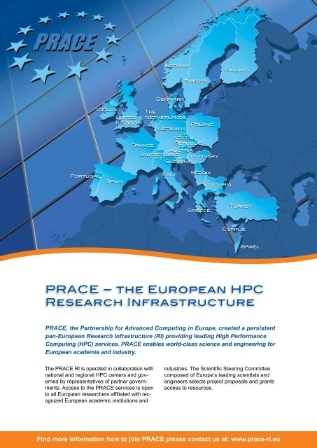 PRACE – THE EUROPEAN HPC RESEARCH INFRASTRUCTURE 709aea61f2