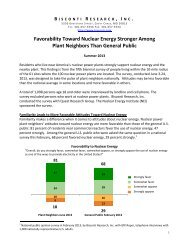 Favorability Toward Nuclear Energy Stronger Among Plant ...