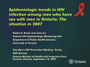 Epidemiologic trends in HIV infection among men who have sex with ...