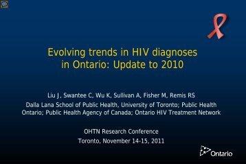 The Omega Study Group - Ontario HIV Epidemiologic Monitoring Unit