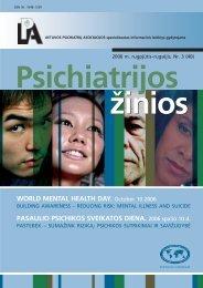 psichiatrijos zinios 2006_3b_SPAUDAI.pmd - Lietuvos psichiatrų ...
