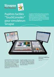 """Pupitres tactiles """"TouchConsoles"""" pour simulateurs ... - Sinapse Print"""