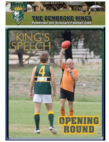 Round 1 Round 2 Round 3 Round 4 - Pembroke Kings