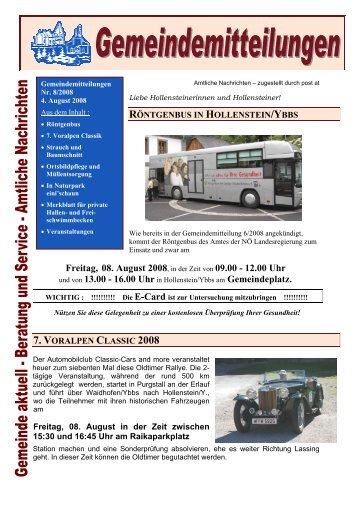 Freitag, 08. August 2008 - Gemeinde Hollenstein an der Ybbs