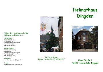 Heimathaus Dingden - Heimatverein Dingden