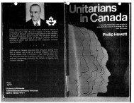 Unitarians in Canada - Unitarian Universalist Association of ...