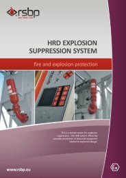 Explosion suppression system