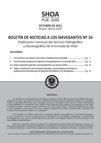 BOLETÍN DE NOTICIAS A LOS NAVEGANTES Nº 10 - Shoa