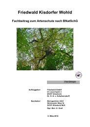 Fachbeitrag zum Artenschutz nach BNatSchG