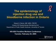 The epidemiology of injection drug use and blood-borne infection in ...