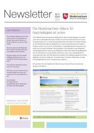 Newsletter März 2011 - Niedersachsen Allianz für Nachhaltigkeit
