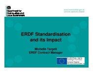 ERDF Standardisation and its Impact - One East Midlands