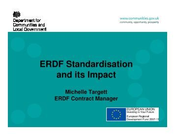 ERDF Standardisation and its Impact - One East Midlands