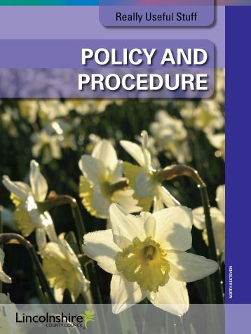 Policy and Procedure - One East Midlands