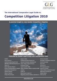 Competition Litigation 2010 - BARNERT EGERMANN ILLIGASCH ...