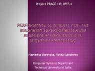 Computational Challenges in Biological Sequence ... - prace