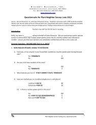BRi Questionnaire for Plant Neighbor Survey: June 2013