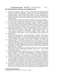 Deutsch 3. Sek 2009 - SchulArena.com