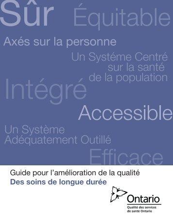 Axés sur la personne - Health Quality Ontario