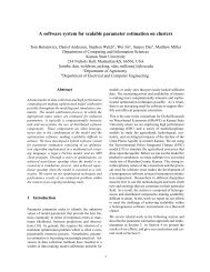 A software system for scalable parameter estimation on clusters
