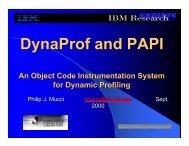 DynaProf and PAPI - Linux Clusters Institute