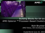 Building Blocks for 64-bit AMD Opteron Clusters - Linux Clusters ...