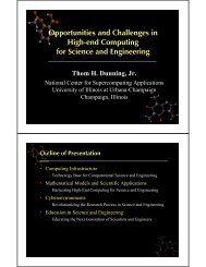Opportunities and Challenges in High-end Computing for Science ...