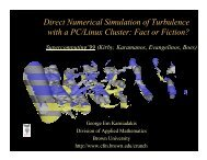 Direct Numerical Simulation of Turbulence with a PC/Linux Cluster ...