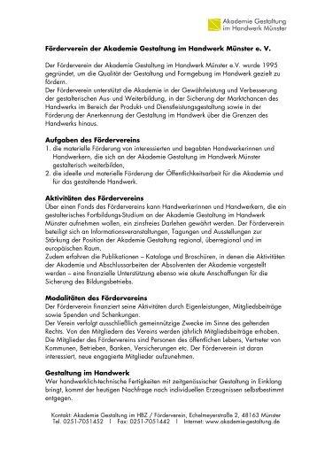 Infoblatt als PDF - Akademie für Gestaltung