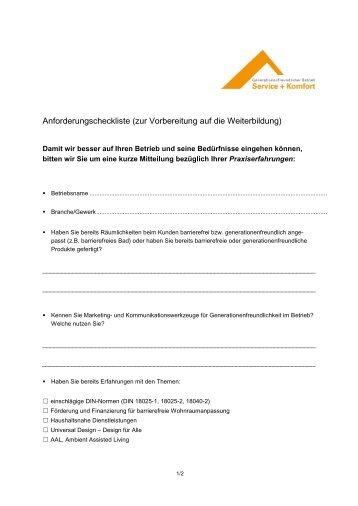 Checkliste - Akademie für Gestaltung