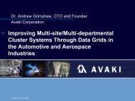 Improving Multi-site/Multi-departmental Cluster Systems Through ...