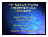 High-Resolution Weather Forecasting on Linux Superclusters