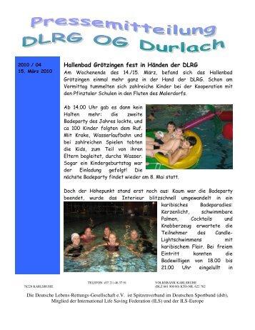 2010 04 - DLRG Ortsgruppe Durlach eV