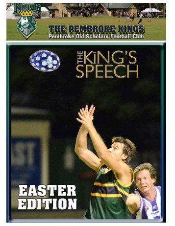 Round 4 - Pembroke Kings
