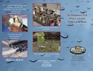 Stormwater Pollution Prevention - The City of Powell