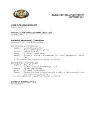 development department report september 2011 ... - The City of Powell