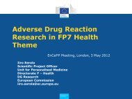 Adverse Drug Reaction Research in FP7 Health Theme - ENCePP