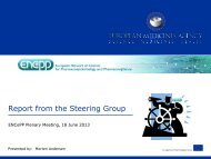 ENCePP Plenary - Report from the Steering Group