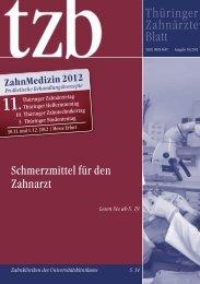 Thüringer Zahnärzteblatt 04/2012 - Zahnärzte in Thüringen