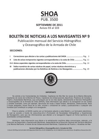 BOLETÍN DE NOTICIAS A LOS NAVEGANTES Nº 9 - Shoa