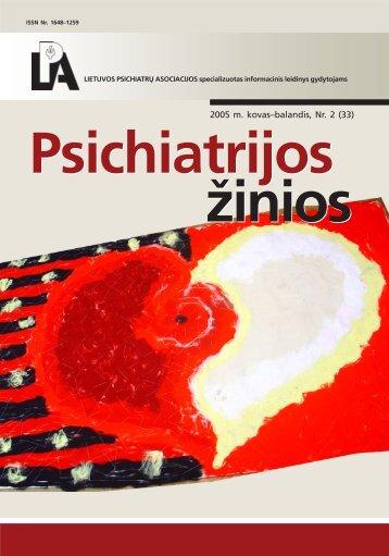 psichiatrijos zinios 2003_2 - Lietuvos psichiatrų asociacija