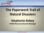 Paperwork Trails - Kentucky Emergency Management