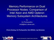 Memory Performance on Dual Processor Nodes - Linux Clusters ...