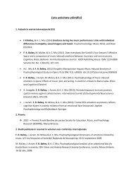 Lista activitate științifică