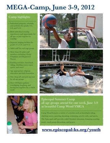 MEGA-Camp, June 3-9, 2012 - The Episcopal Diocese of Kansas