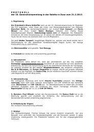 Protokoll GV FSZ 21 02 2013