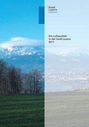 Die Luftqualität in der Stadt Luzern 2011 - in-Luft