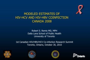 The Omega Study Group - Ontario HIV Epidemiologic Monitoring Unit